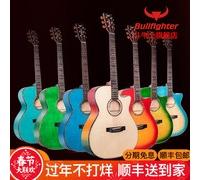 【斗牛士】单板D5民谣吉他41寸云杉虎纹枫木面单演奏指弹全频加振电箱
